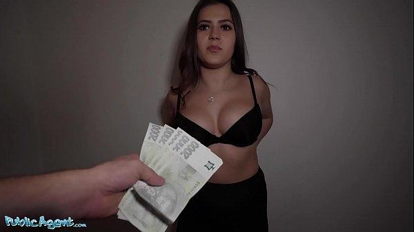 Public Agent Celeb lookalike Sereyna Gomez fucked on